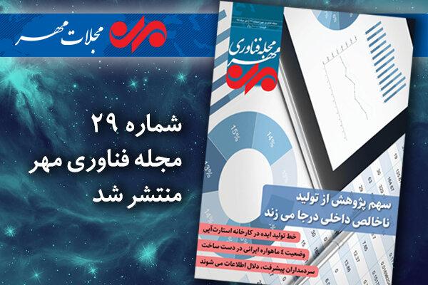 بیست و نهمین شماره مجله فناوری مهر منتشر شد