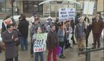 Protesters oppose U.S. economic warfare on Iran