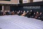 اولین شب مراسم عزاداری حضرت زهرا(س) با حضور رهبر انقلاب برگزار شد
