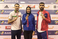 Iran clinches two gold, one bronze at Karate 1-Premier League Paris