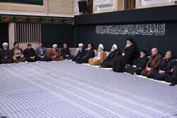 رہبر معظم کی موجودگی میں مجلس عزا منعقد