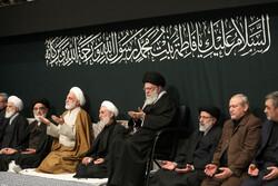 رہبر معظم کی موجودگی میں حضرت زہرا(س) کی شہادت کی مناسبت سے پہلی شب میں مجلس عزا
