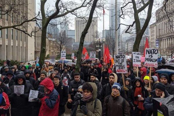 تجمع کاناداییها در اعتراض به تحریمهای ضدایرانی واشنگتن