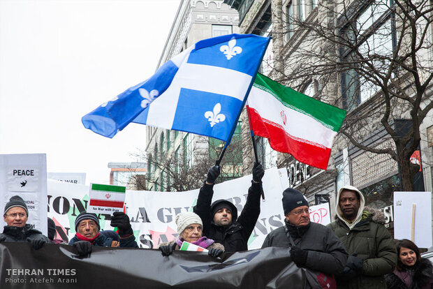 Protest in Montreal warning about U.S. threats of war on Iran