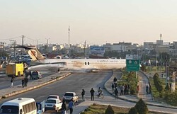 Plane skids off runway in SW Iran, no injuries