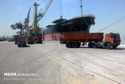 کشتی حامل ۲۷ هزار تن برنج وارد بندر بوشهر شد