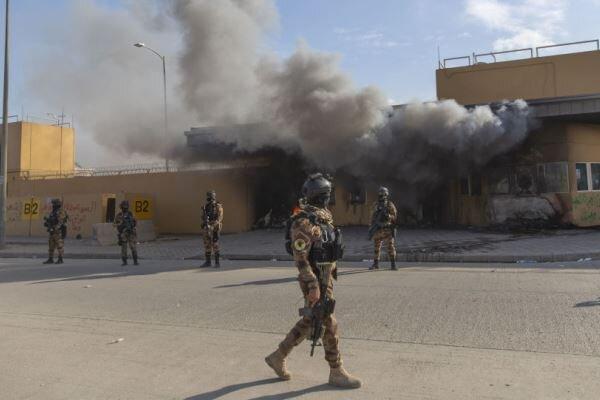 بغداد میں امریکی سفارت خانے پر 3 راکٹوں سے حملہ
