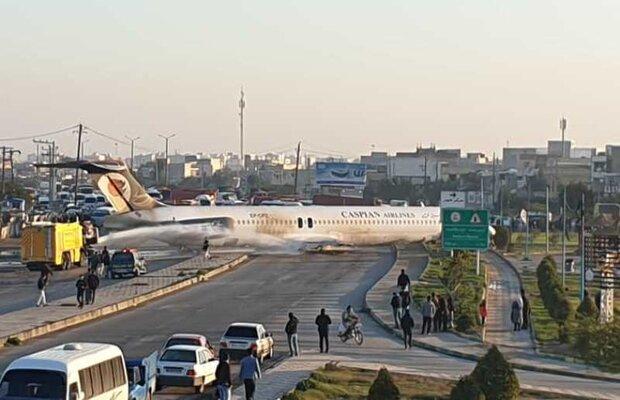 Plane skids off runway in SW Iran, no injuries