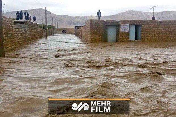 سیستان و بلوچستان کے نیکوجہاں گاؤں میں سیلاب سے تباہی