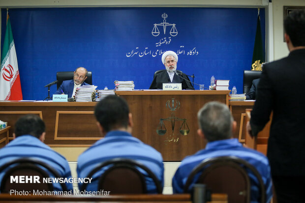 Court session of 12 illegal foreign currency traders held in Tehran