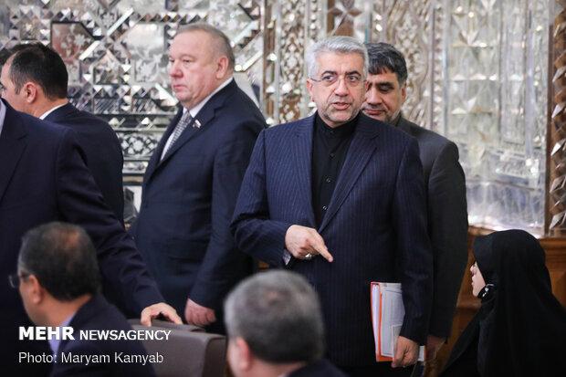 دیدار رئیس دومای روسیه با علی لاریجانی