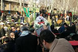 مراسم تشییع و خاکسپاری شهید گمنام در خانه کشتی برگزار شد
