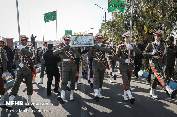 Funeral of an unknown martyr in Navy's town