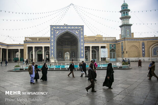 شکوه معماری اسلامی ایرانی در مسجد اعظم قم