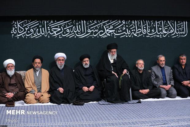 مراسم عزاداری شب شهادت حضرت زهرا(س) با حضور رهبر انقلاب برگزار شد