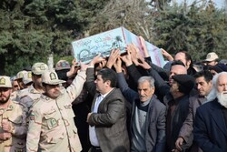 Funeral of an unknown martyr in Gilan prov.