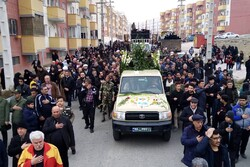 پیکر مطهر دو شهید گمنام در ماهدشت کرج تشییع شد