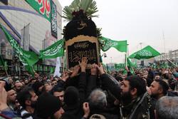 تہران میں ہفت تیر اسکوائر پر فاطمیون کا عظيم الشان اجتماع