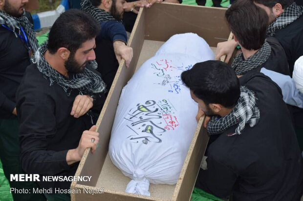 Funeral procession of an unknown martyr in Gilan prov.