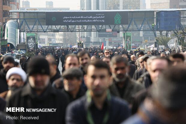 اجتماع فاطمیون در میدان هفت تیر تهران