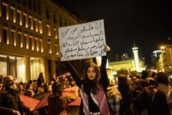لبنان میں امریکہ  کے سازشی معاملے کے خلاف مظاہرہ