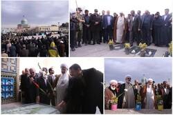 مزار شهدای شهر قزوین گلباران شد