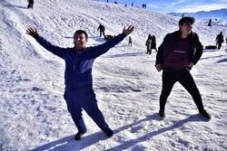 سرعلی آباد علاقہ میں برف کے شاندار مناظر