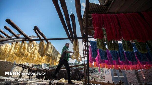 کارگاه رنگرزی سنتی در قاهره