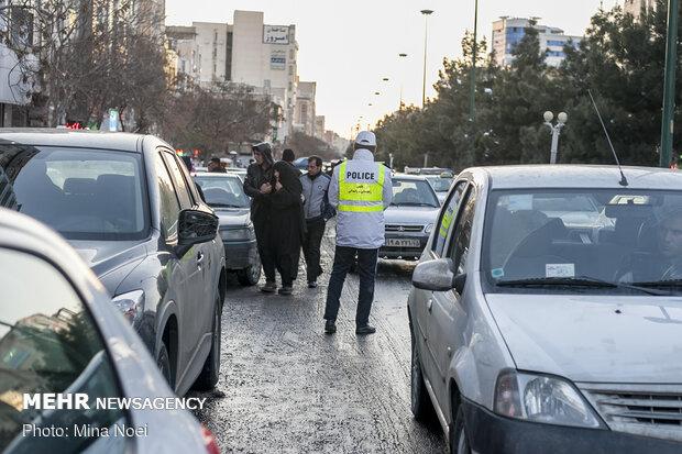 ترافیک صبحگاهی در تمامی معابر پایتخت مشهود است
