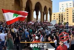 تظاهرات مردم لبنان در طرابلس در اعتراض به دولت