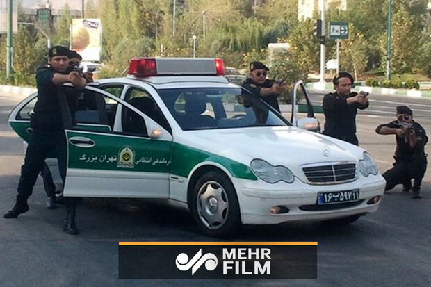 تعقیب خودروی سرقتی توسط پلیس آگاهی تهران