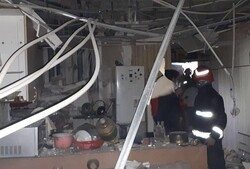 تخریب منزل مسکونی به دنبال انفجار مواد محترقه در تبریز