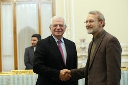 Larijani and European Union foreign policy chief Josep Borrell