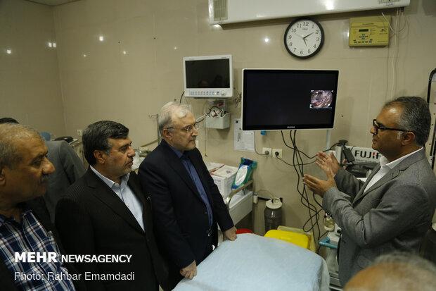 سفر سعید نمکی وزیر بهداشت به هرمزگان