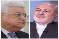 FM Zarif, Mahmoud Abbas discuss Trump's Mideast plan over phone