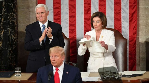 VIDEO: Trump refuses handshake, Pelosi rips up copy of his speech