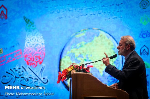 سخنرانی علی لاریجانی رئیس مجلس شورای اسلامی همایش بین المللی بیانیه گام دوم انقلاب