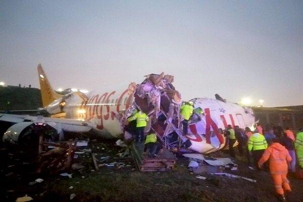 Sabiha Gökçen Havalimanı'nda bir uçak pistten çıktı
