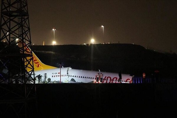 Plane skids off runway at airport in Istanbul