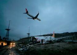 طائرة تركية تشتعل بمطار دوسلدورف الألماني