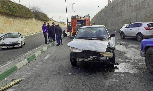 ۱۰ درصد از تصادفات تهران مربوط به تغییر مسیرهای ناگهانی است
