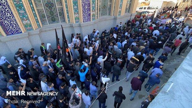 تشییع پیکر شهید شکنجه در زندانهای آل خلیفه «سید کاظم عباس السهلاوي»