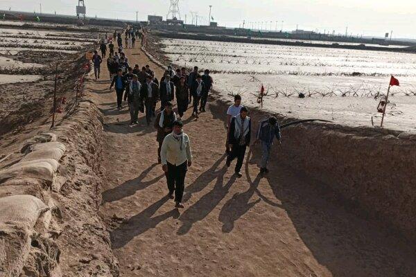 اعزام دانشآموزان شهرستانهای باشت و چرام به مناطق عملیاتی جنوب