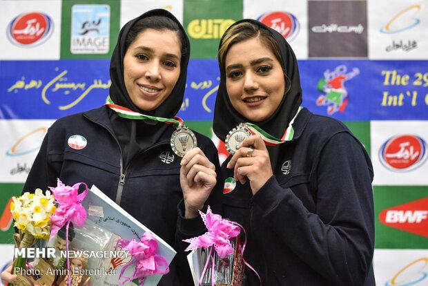 اختتامیه مسابقات بین المللی بدمینتون جام فجر در شیراز
