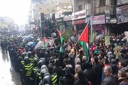 اردن میں صدی ڈیل کے خلاف عوام نے بڑے پیمانے پر احتجاجی مظاہرہ کیا