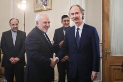 Zarif, BM Suriye Özel Temsilcisi Pedersen'i kabul etti