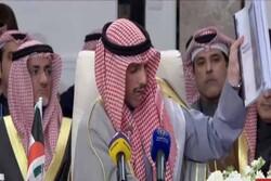 رئیس پارلمان کویت معامله قرن را به سطل زباله انداخت