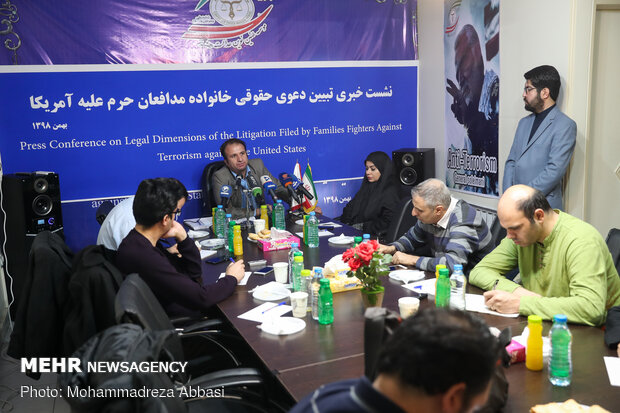 Press conf. on litigation against US leaders held