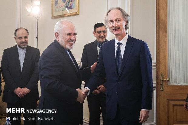 استقبال ظريف لمندوب الأممي في الشأن السوري/صور
