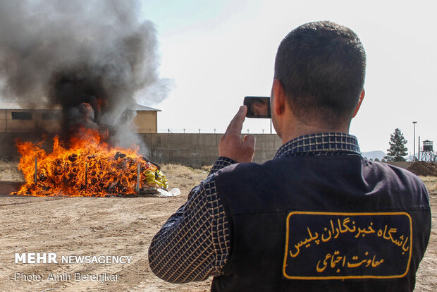 13 tons of illicit drugs destroyed in Shiraz